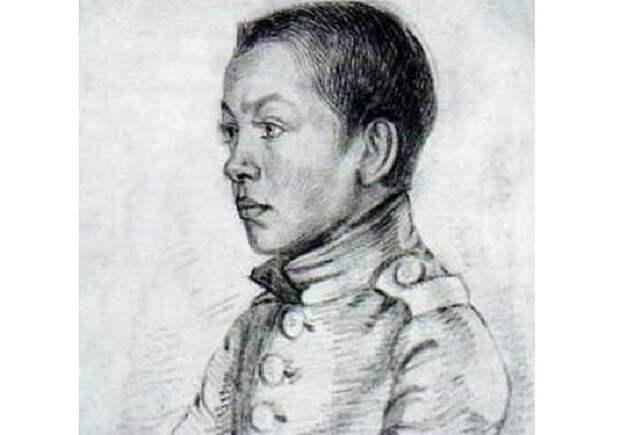 Графический портрет Павла Федотова.