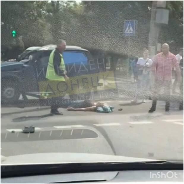 В центре Донецка произошло масштабное ДТП