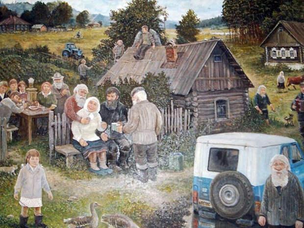 Как в русской деревне японцу стало дурно