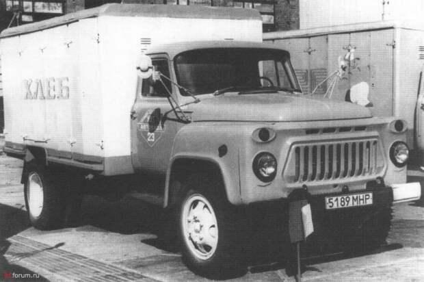 Хлебный фургон У-97 на шасси ГАЗ-53А СССР, авто, автомобили, автофургон, грузовик, ретро техника, фургон, хлеб