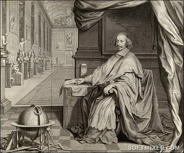 Robert_Nanteuil,_Cardinal_Jules_Mazarin_Seated_Within_the_Gallery_of_his_Palace,_1659