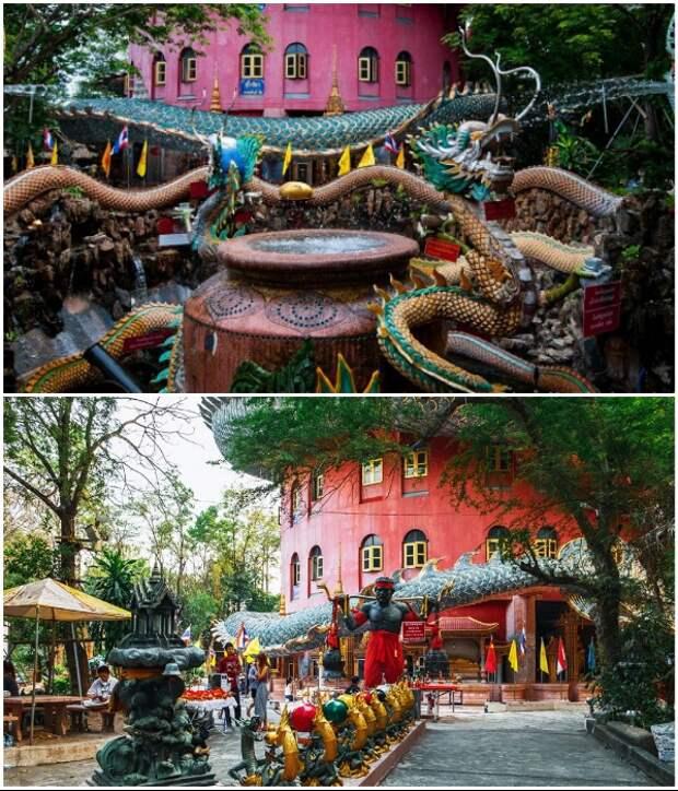 Территория храмового комплекса «Wat Samphran». | Фото: tourister.ru/ wikipoints.ru.