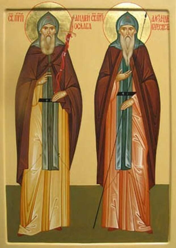 Акафист  преподобным воинам схимонахам  Александру (Пересвету)  и Андрею (Ослябе)