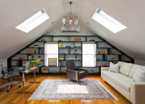 Как обычный чердак можно превратить в стильную комнату. Идеи для мансарды