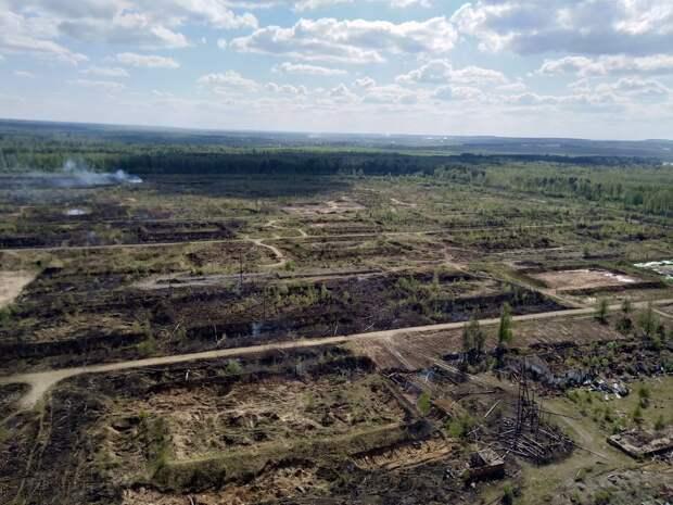 Пожар на территории бывшего арсенала в Пугачёво ликвидирован