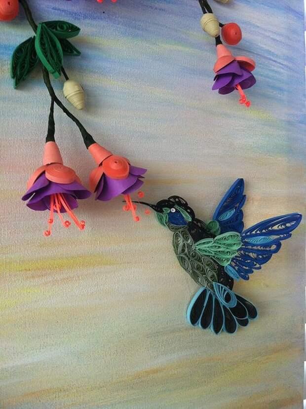 Птицы в технике квиллинг. Как красиво и как трудоемко!