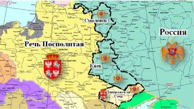 """Карта приобретений России согласно """"Вечному миру"""""""