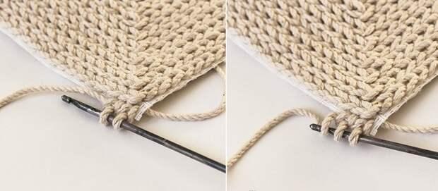 как связать коврик без крючка
