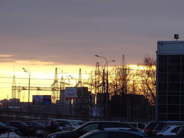 Настоящий HDRI - закат в Старой Трёхгорке, исходное фото светлое
