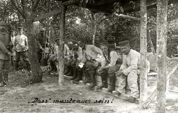 Фотографии, показывающие, как немцы справляли нужду во время Первой мировой войны война, интересно, люди, нужда, окопы, туалет, факты