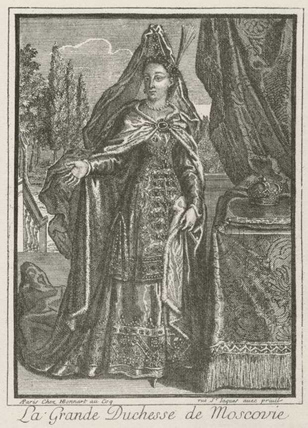 Софья Алексеевна (гравюра, Боннар,1685) | Софья Алексеевна | Русская портретная галерея