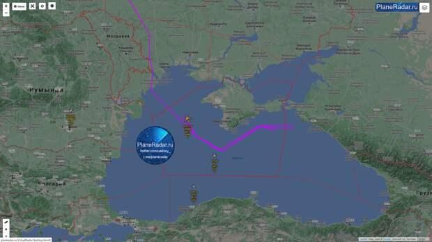 У границ Крыма зарегистрировали самолёт радиоэлектронной разведки Великобритании