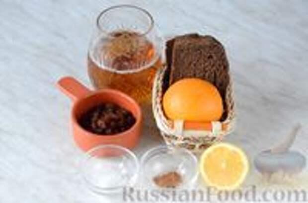 Фото приготовления рецепта: Цитрусовая окрошка на светлом пиве - шаг №1