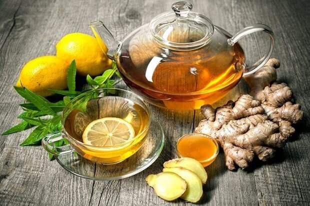 Отлично справляются с недугом имбирь, лимон и мед