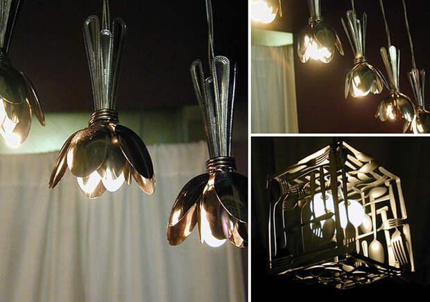 diylamps32 21 идея изготовления светильников и люстр из повседневных предметов