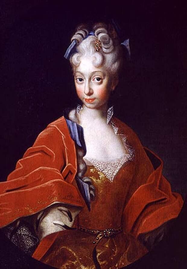 Портрет Шарлотты Кристины Софии. Автор неизвестен