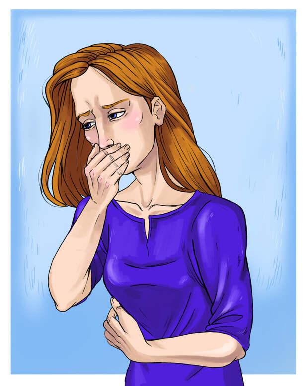 3. Тошнота сразу после несчастного случая.