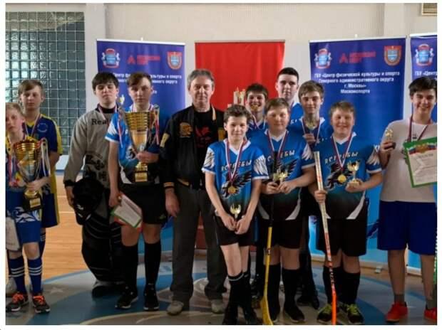 Команда Головинского стала чемпионом Окружных соревновании по флорболу