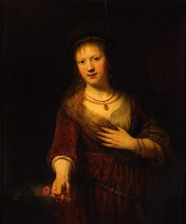 Рембранд-Саския-с-цветком (500x602, 128Kb)