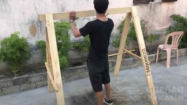 Как сделать садовые качели из дерева своими руками