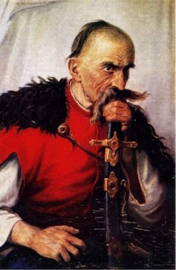 Портрет казака из саблей. Автор: Антон Монастырский.