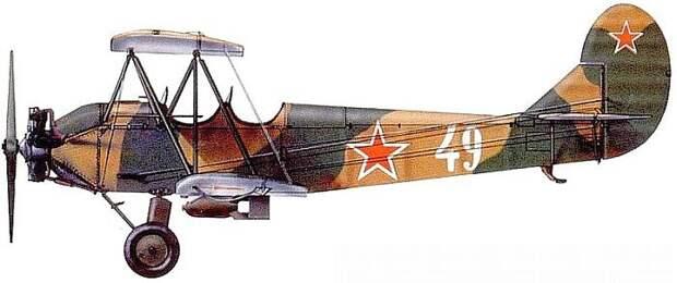 Боковая проекция У-2 (По-2)