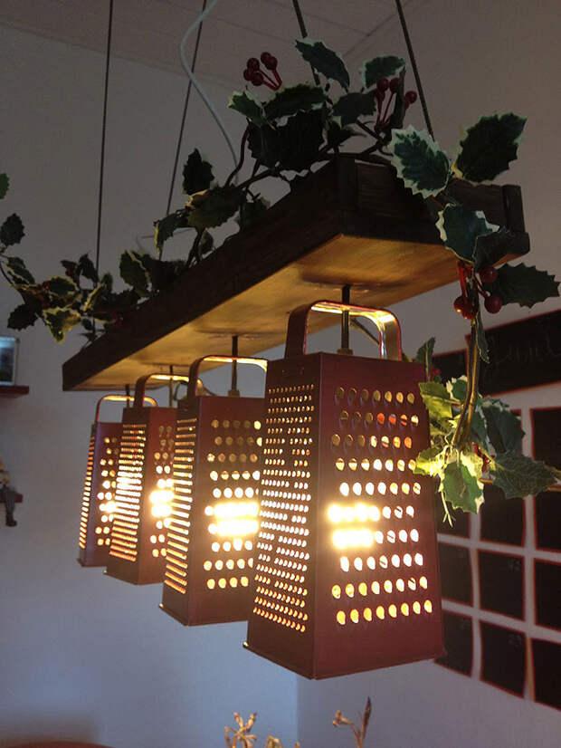 diylamps29 21 идея изготовления светильников и люстр из повседневных предметов