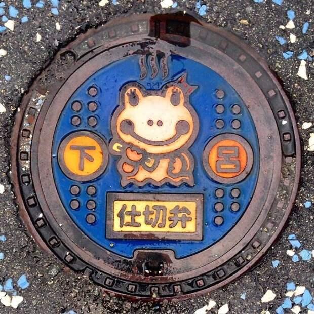 Красота под ногами: красивейшие канализационные люки из Японии