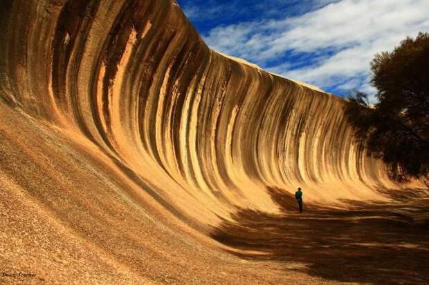 Уникальная каменная волна на австралийском побережье