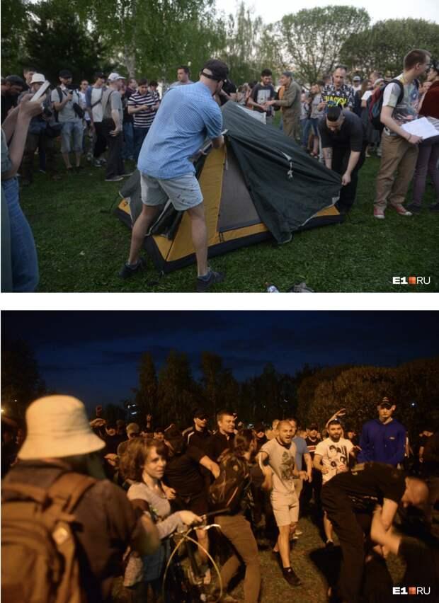 Кто не скачет, тот за храм. Протест в Екатеринбурге по майданным лекалам Украины