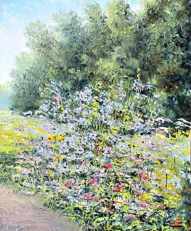 Евгений Синев.Цветы у дороги