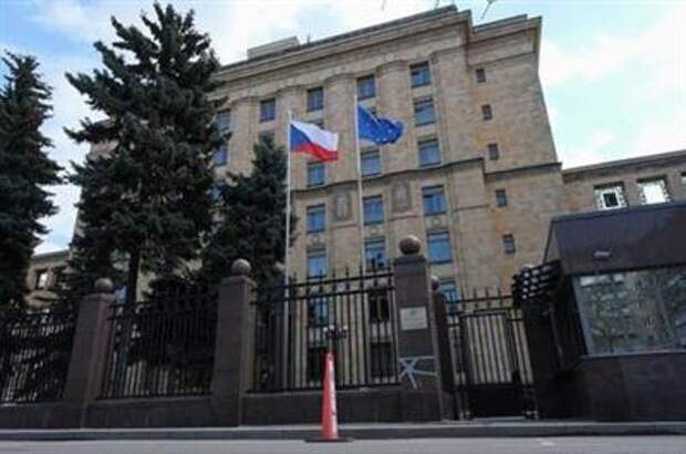 A general view shows the embassy of the Czech Republic in Moscow, Russia, April 18, 2021. REUTERS/Shamil Zhumatov