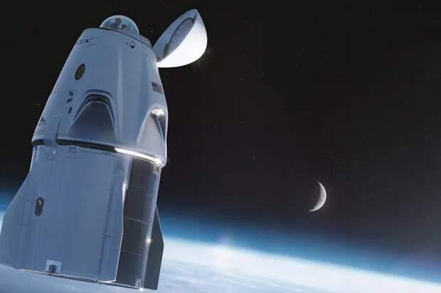 SPACEX ОСНАСТИТ CREW DRAGON СТЕКЛЯННЫМ КУПОЛОМ И ЛУННЫЙ ШАТТЛ «КОРВЕТ».