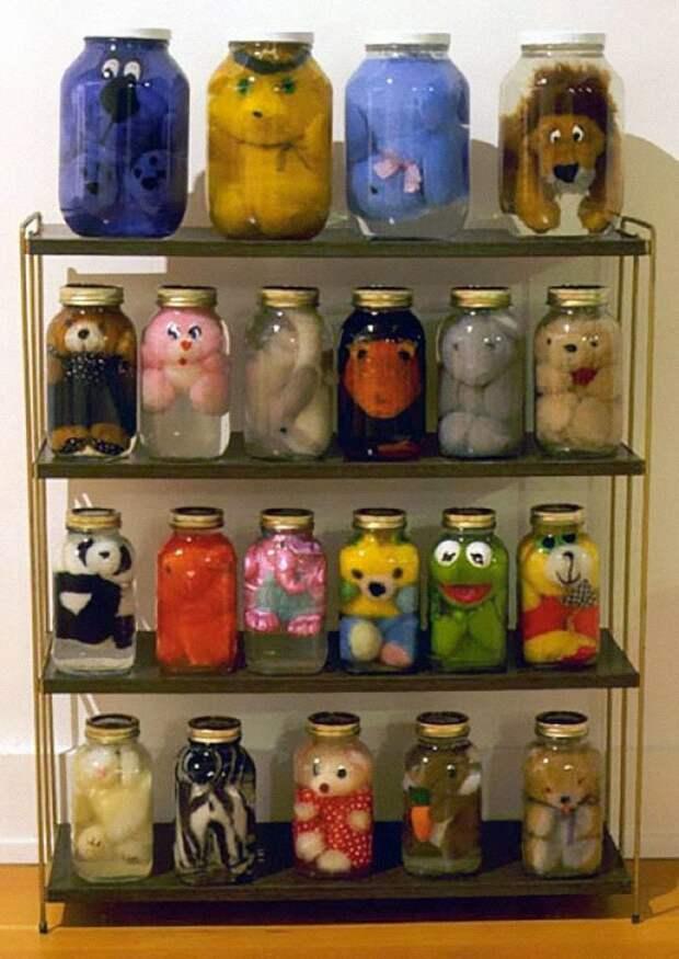 Консервированные мягкие игрушки — худший способ сохранить воспоминания детства идея, подборка, прикол, своими руками, юмор
