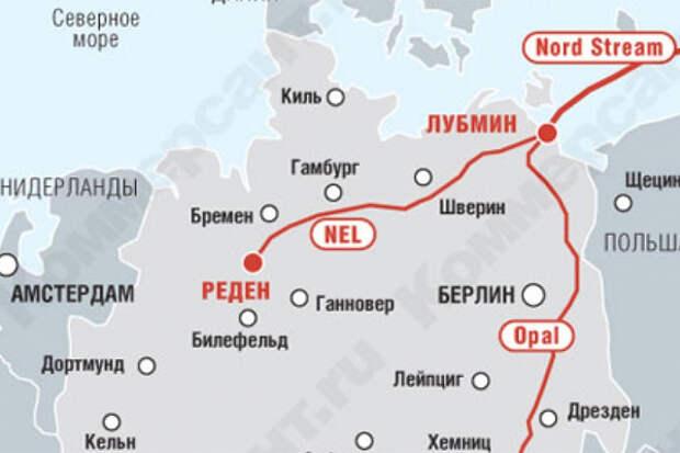 """Газопровод OPAL останется недоступным для """"Газпрома"""""""