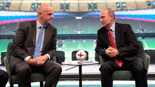 Путин и Инфантино обсудили подготовку к ЧМ-2022 в Катаре