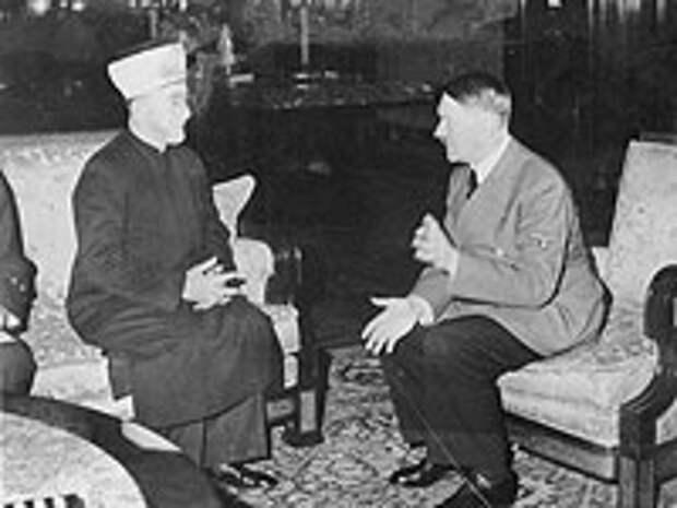 Хадж-Амин аль-Хусейни и Адольф Гитлер в 1941-м году