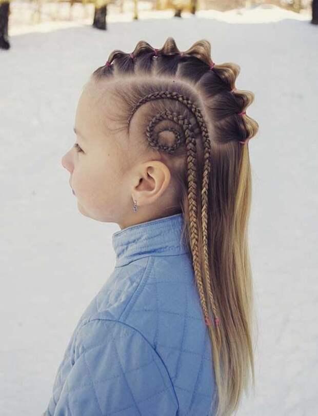 Скандинавские детские косички