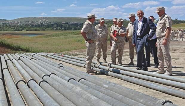 Минобороны начало поить Симферополь водой из Белогорского района