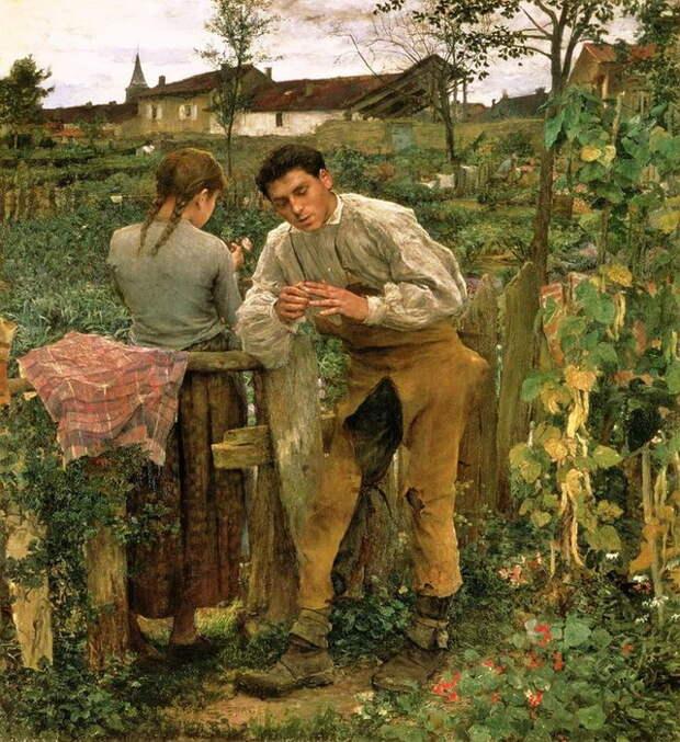 """Ж. Бастьен-Лепаж. """"Деревенская любовь"""""""