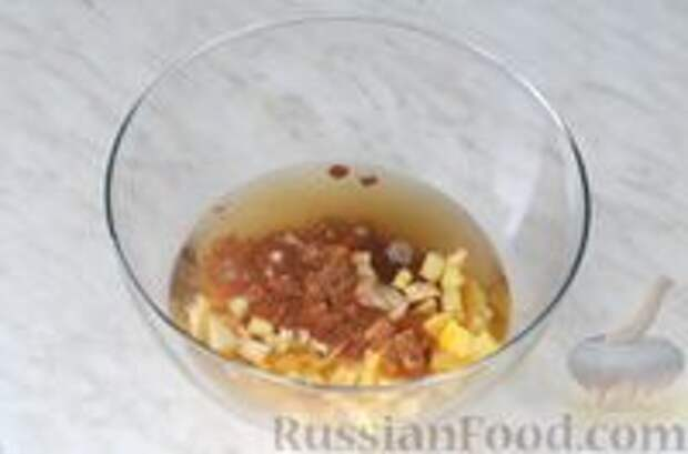 Фото приготовления рецепта: Цитрусовая окрошка на светлом пиве - шаг №6