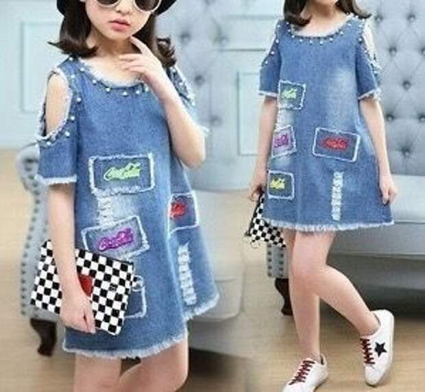 Выкройка необычного платьица для девочки