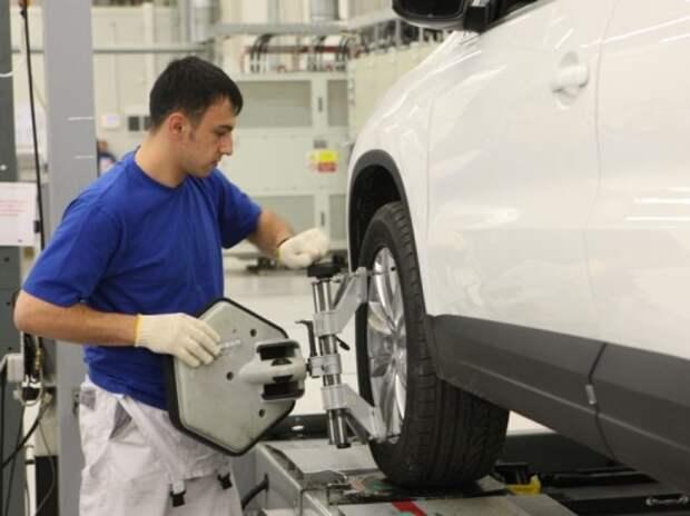 Завод Volkswagen в Калуге остановил производство до 12 января