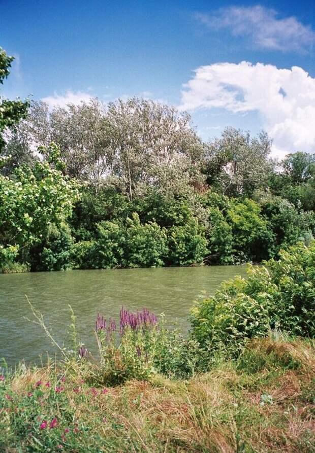 Берега реки Аксай