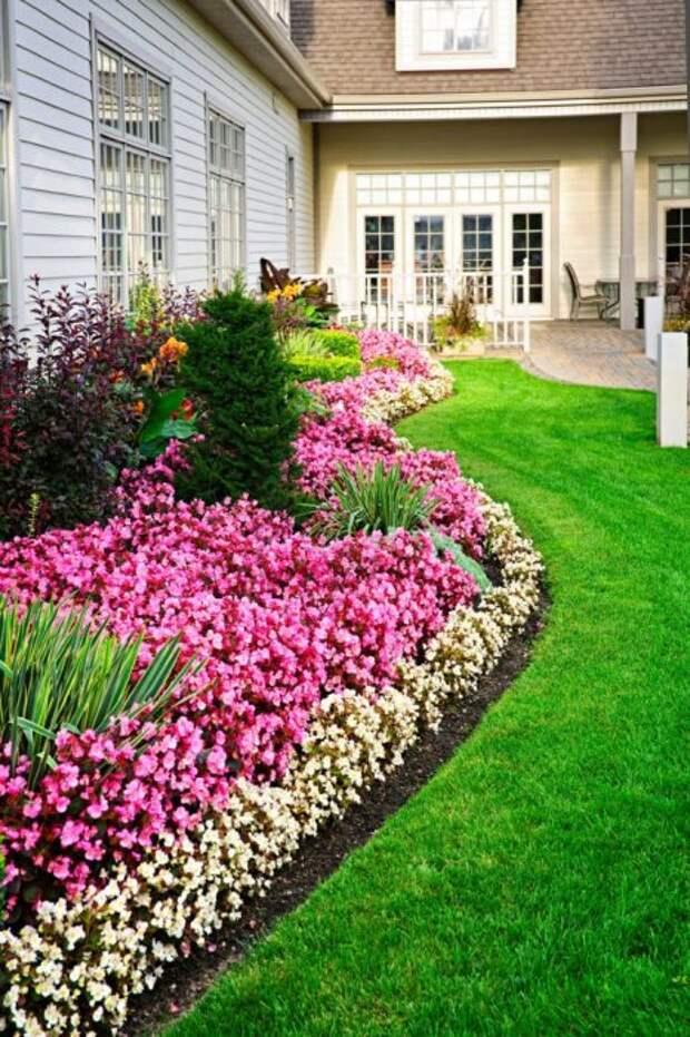 Элементы природного ландшафта придадут большей естественности вашему садовому участку.