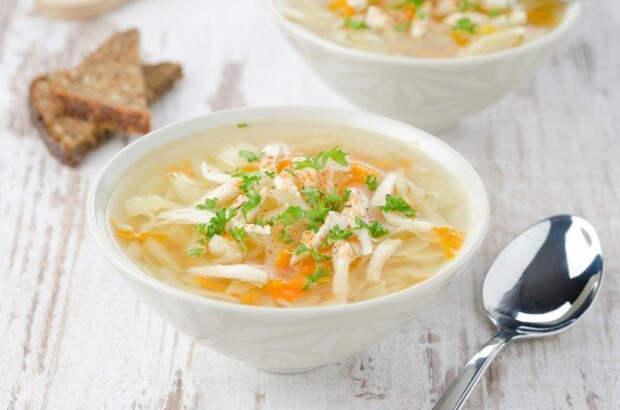 ДЕНЬ ПЕРВОГО БЛЮДА. Куриный суп с лапшой и овощами