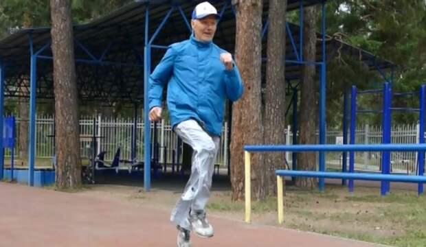80-летний легкоатлет побил рекорд России по прыжкам в длину
