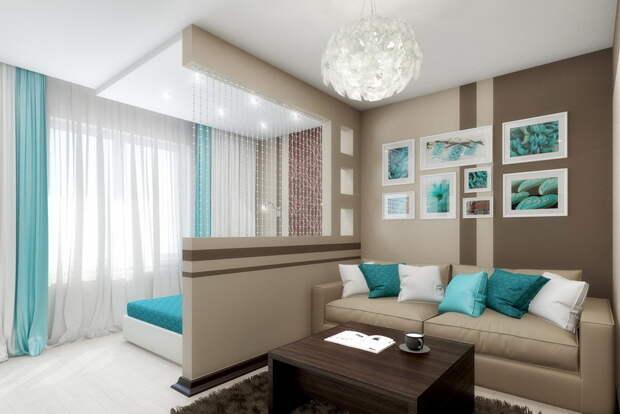 Две функции одной комнаты: как «подружить» гостиную и спальню. 6 адекватных вариантов зонирования