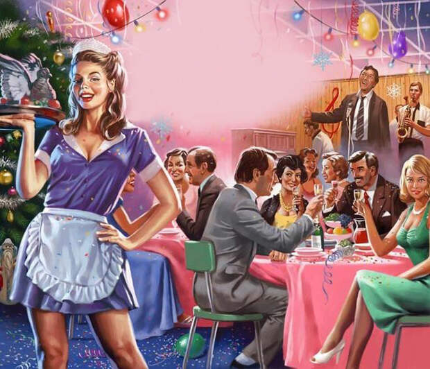 Современный пин-ап, на советские мотивы СССР, девушки, пин-ап, прикол, юмор