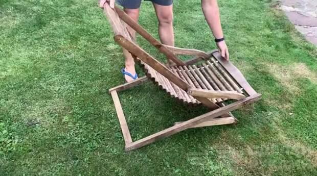 Складной стул своими руками из старых деревянных поддонов